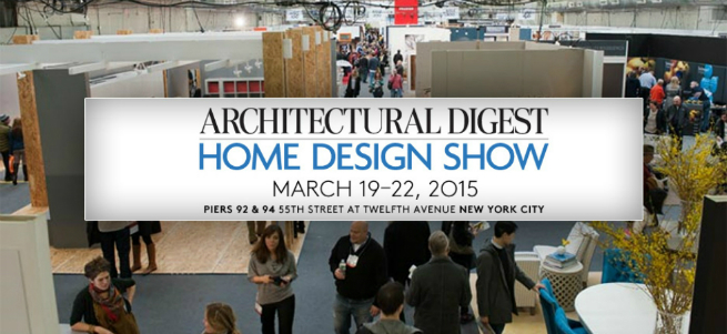 . Architectural Digest Show 2015 with Luxury Bathroom Pieces