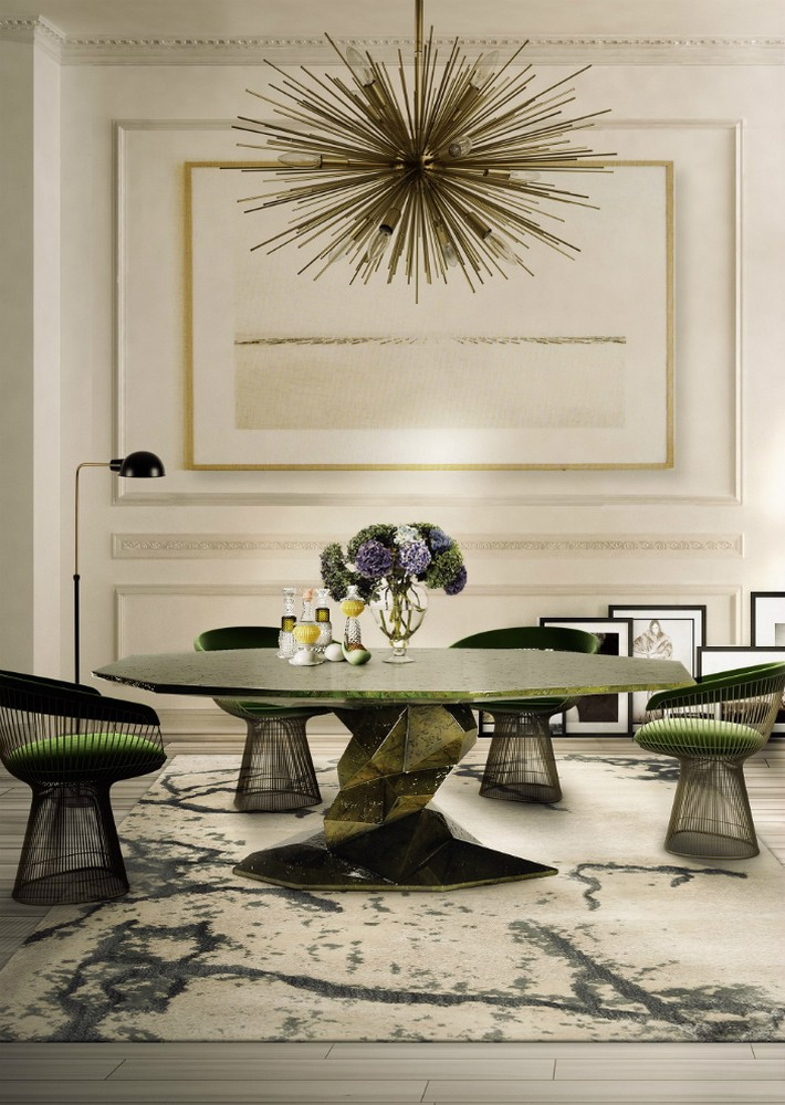 Design trends dining tables for contemporary dining rooms for Designer dining room suites