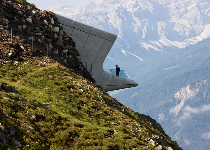 Art Projects: Zaha Hadid's Alpine Mountain Museum  Art Projects: Zaha Hadid's Alpine Mountain Museum Messner Mountain Museum Zaha Hadid Architects Corones dezeen 784 2