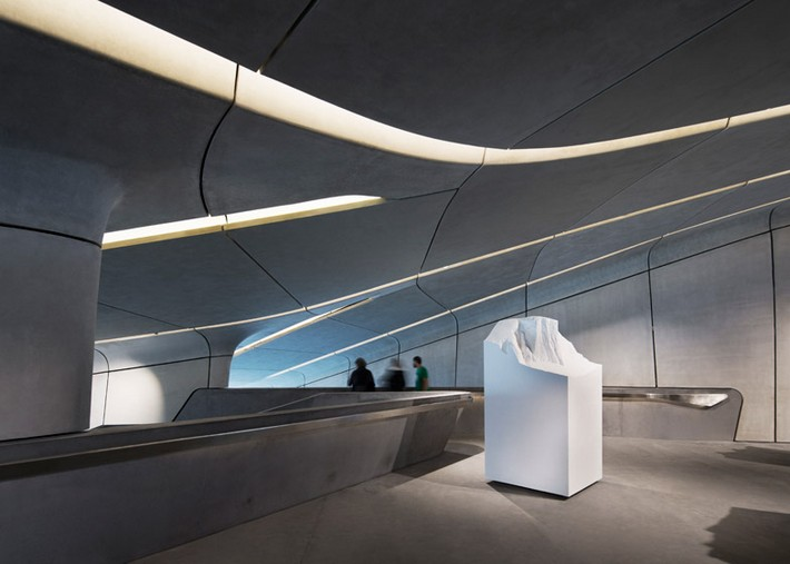 Art Projects: Zaha Hadid's Alpine Mountain Museum  Art Projects: Zaha Hadid's Alpine Mountain Museum Messner Mountain Museum Zaha Hadid Architects Corones dezeen 784 3