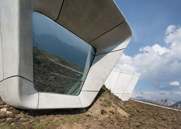 Art Projects: Zaha Hadid's Alpine Mountain Museum  Art Projects: Zaha Hadid's Alpine Mountain Museum Messner Mountain Museum Zaha Hadid Architects Corones dezeen 784 4