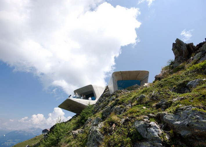 Art Projects: Zaha Hadid's Alpine Mountain Museum  Art Projects: Zaha Hadid's Alpine Mountain Museum Messner Mountain Museum Zaha Hadid Architects Corones dezeen 784 5