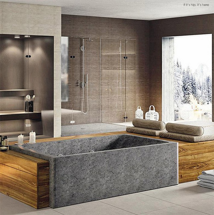 Bathroom trends first whirlpool tub carved from marble for First bathrooms