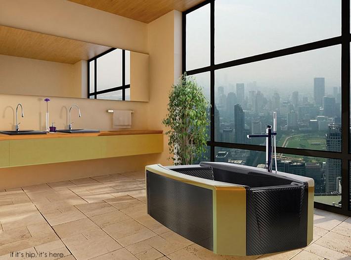Modern Bathroom Bathtubs by Corcel  Modern Bathroom Bathtubs by Corcel Zoe Virgo golden green in situ IIHIH
