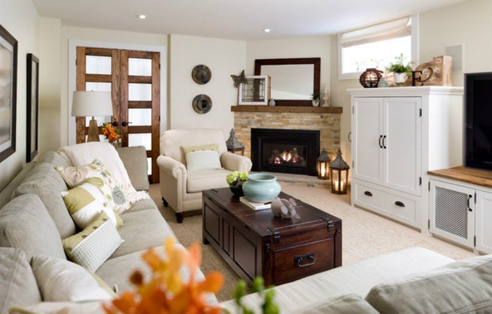 Top interior designers in canada news and events by - Living room layout with corner fireplace ...