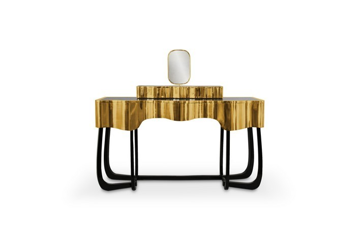 Sinuous  front side dressing table Sinuous - A Chic Dressing Table for your Bathroom Sinuous A Chic Dressing Table for your Bathroom front side