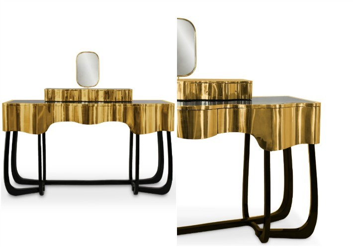 Sinuous front side view dressing table Sinuous - A Chic Dressing Table for your Bathroom Sinuous A Chic Dressing Table for your Bathroom view
