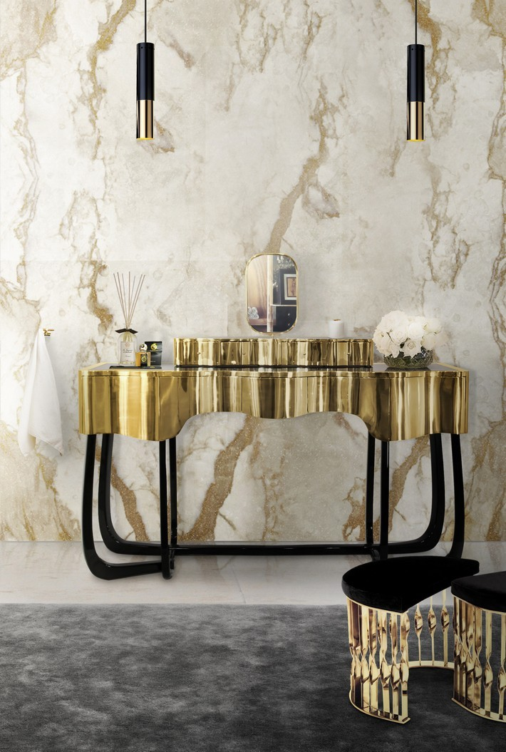 Sinuous ambience dressing table Sinuous - A Chic Dressing Table for your Bathroom Sinuous A Chic Dressing Table for your Bathroom