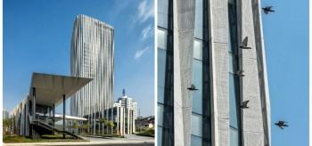 Kengo Kuma Mesh Façade for Shanghai Office Tower