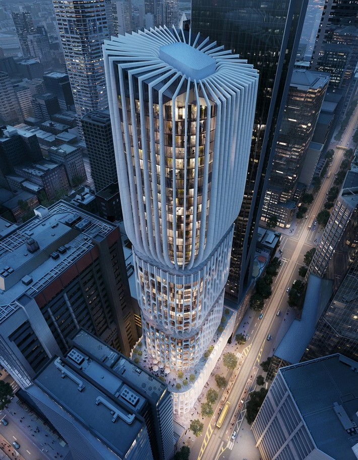 Zaha hadid s tapered tower in melbourne receives planning for Architecture firms melbourne