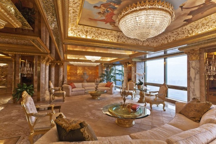 Donald Trump's Manhattan Luxury Apartment Mansion Donald Trump Donald Trump's Manhattan Luxury Apartment Mansion Donald Trumps Manhattan Luxury Apartment Mansion 1