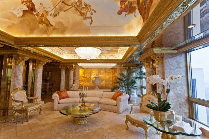 Donald Trump's Manhattan Luxury Apartment Mansion Donald Trump Donald Trump's Manhattan Luxury Apartment Mansion Donald Trumps Manhattan Luxury Apartment Mansion 3