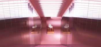 Normann Copenhagen Store Remodelled into a Glamorous Pink Ballroom
