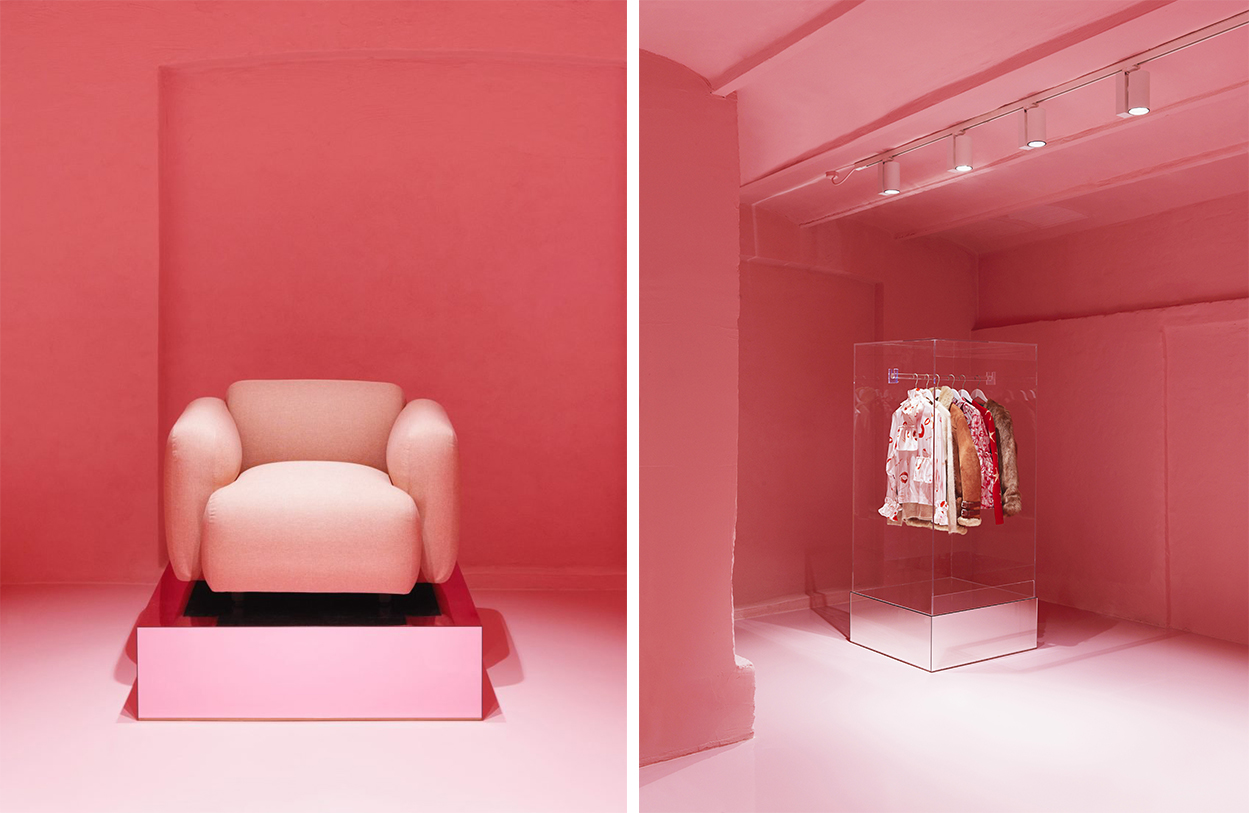 normann copenhagen store remodelled into a glamorous pink ballroom Normann Copenhagen Normann Copenhagen Store Remodelled into a Glamorous Pink Ballroom normann copenhagen store remodelled into a glamorous pink ballroom