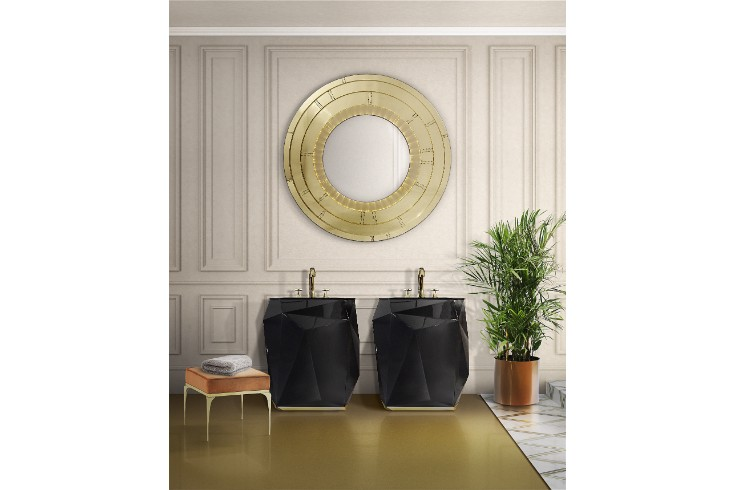 The perfect combination for a luxury bathroom luxury bathroom The perfect combination for a luxury bathroom 25 diamond freestand blaze mirror HR