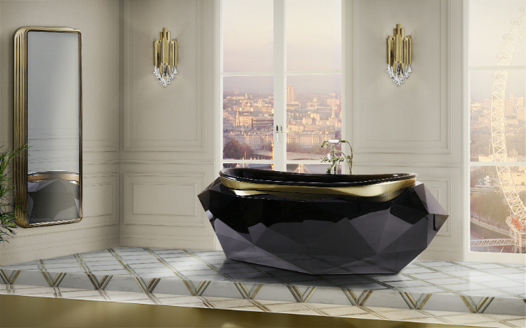 ONTEMPORARY BATHROOM contemporary bathrooms CONTEMPORARY BATHROOMS FOR YOUR LIFESTYLE 24 diamond bathtub colosseum wall display HR 2