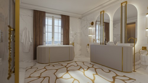 a-sovereign's-bathroom-with-white-leather-bathroom-furniture-and-golden-lines