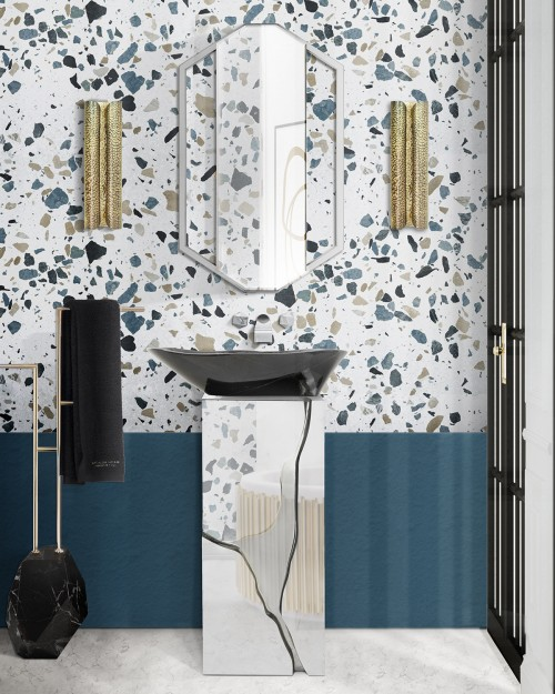 bathroom-with-blue-hues-and-terrazzo-inspiration