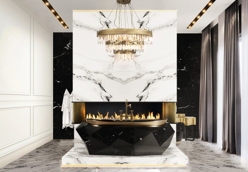 black-and-gold-bathroom-diamond-bathtub-in-nero-marquina-faux-marble-