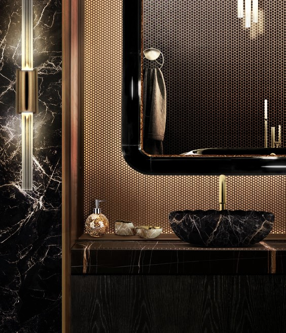 black-and-gold-bathroom-set-with-ring-rectangular-mirror-and-lotus-vessel-sink-1