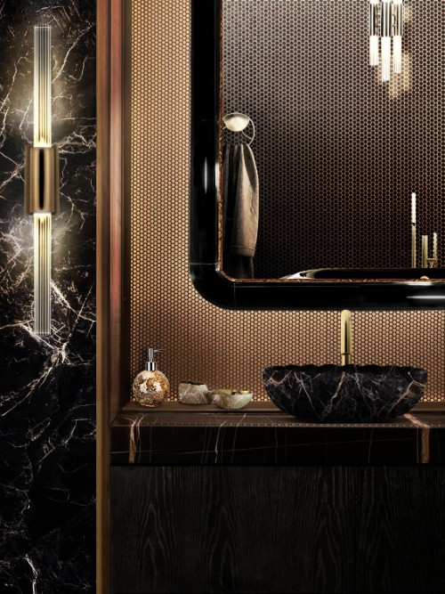 black-and-gold-bathroom-set-with-ring-rectangular-mirror-and-lotus-vessel-sink
