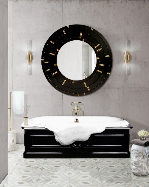 black-and-white-bathroom-decor-with-blaze-mirror-and-petra-bathtub