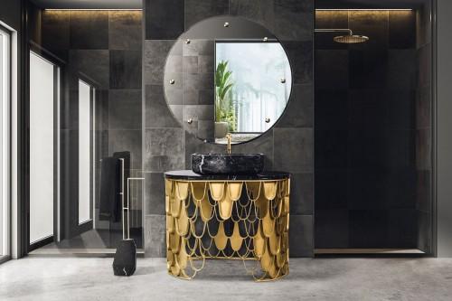 black-luminous-and-polished-modern-bathroom-with-koi-single-washbasin