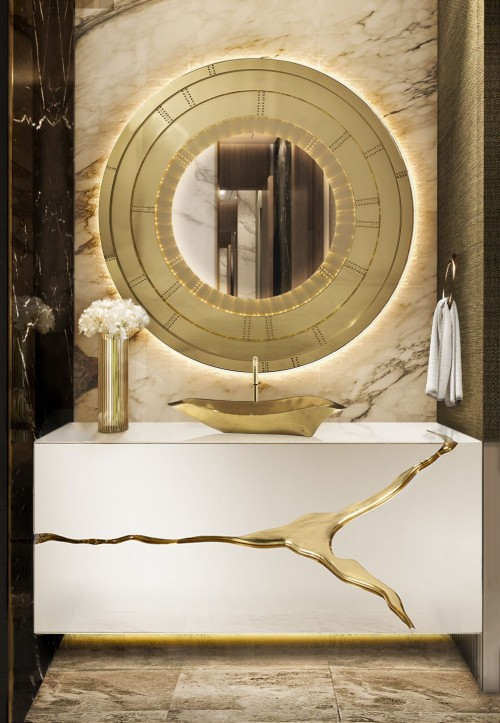 blissfulness-gold-bathroomm-with-blaze-mirror-and-lapiaz-suspension-cabinet