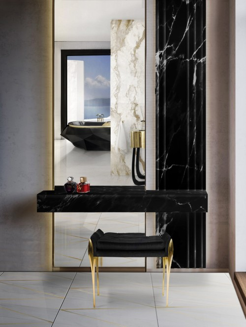 diamond-bathtub-and-stiletto-stool-shine-on-bold-bathroom