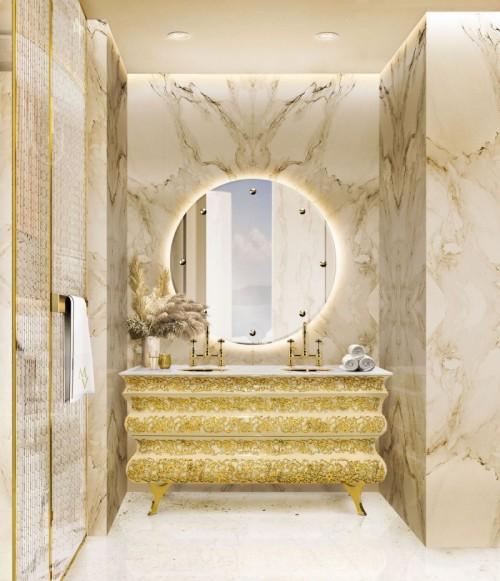 elegant-golden-master-bathroom-crochet-washbasin-and-glance-mirror