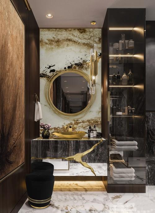 luxury-bathroom-dark-color-palette-with-golden-details