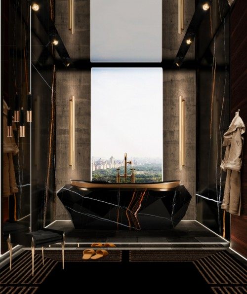 majestic-bathroom-with-diamond-bathtub-in-sahara-noir-faux-marble