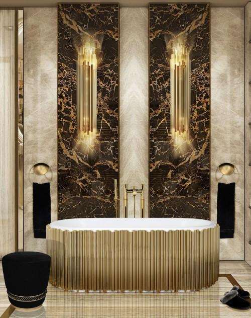 majestic-brown-marble-bathroom-with-symphony-oval-bathtub