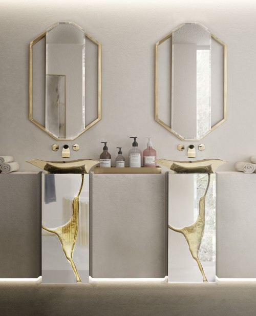 restaurant-bathroom-with-sapphire-mirror-and-lapiaz-freestanding-