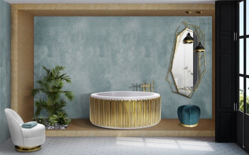 symphony-bathtub-is-the-center-piece-of-alluring-blue-bathroom