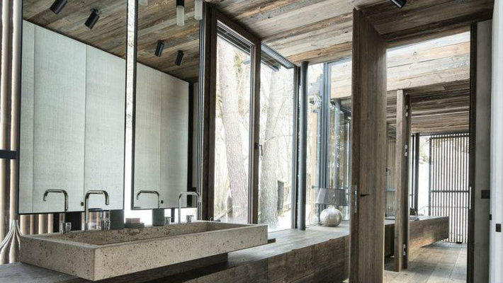 Rustic Modern Bathroom Design Ideas gorgeous rustic modern sink in bathroom1