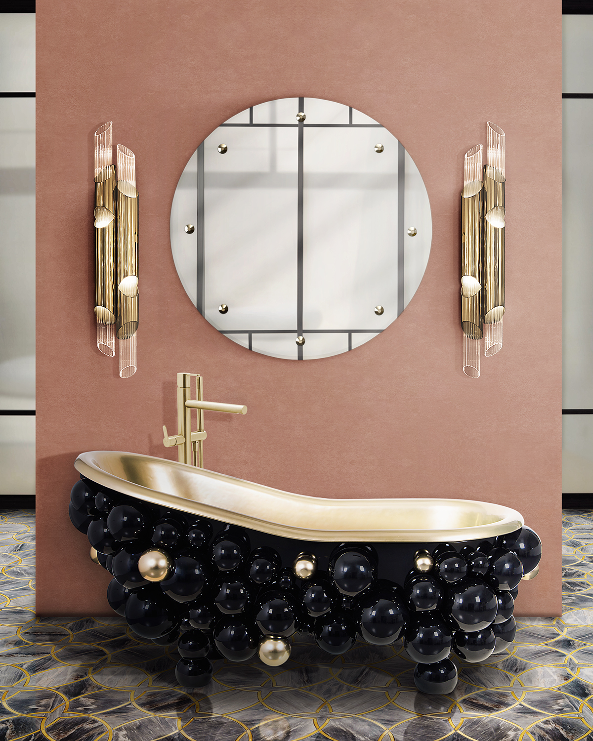 Black Bathtubs for Luxury Bathroom Ideas black bathtubs maison valentina