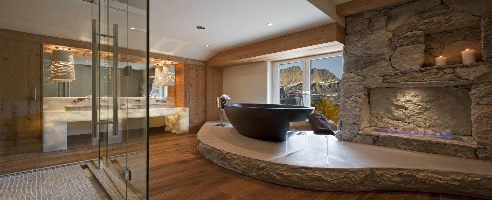 luxury bathrooms Luxury Bathrooms with Astonishing Fireplaces feature maison valentina luxury bathrooms with fireplaces