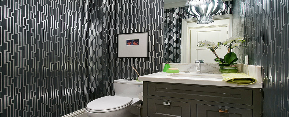 Gorgeous Wallpaper Ideas for your Modern Bathroom wallpaper modern bathroom