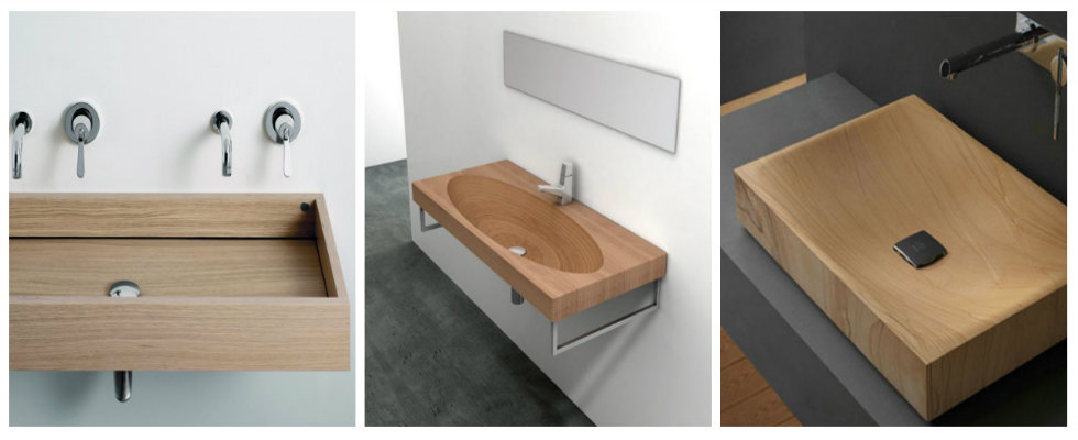 wooden bathroom sinks Fascinating Wooden Bathroom Sinks to Create a Classic Style collage