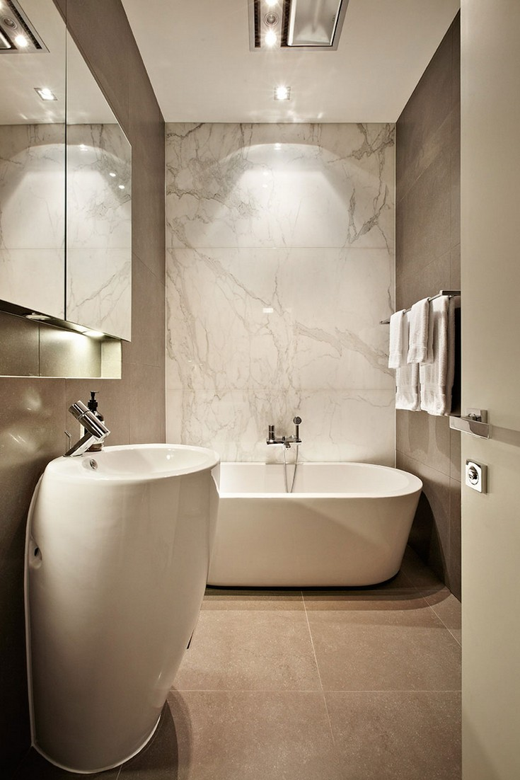 zz architects, marble bathroom design, maison valentina, bathroom, luxury furniture brand zz architects ZZ Architects Are The Best Inspo To Create A Marble Bathroom Design 10 Small Bathroom Trends for 2016