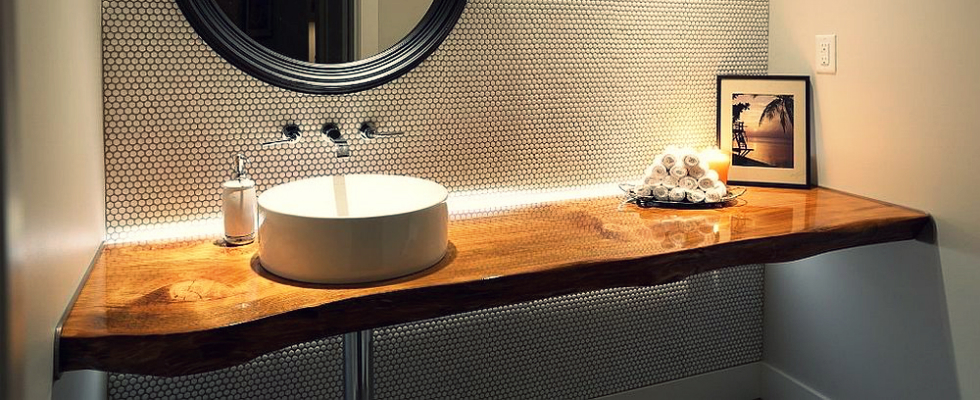 fall trends redefining a modern bathroom with a live edge