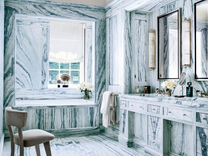 How to Achieve Luxury with Marble Bathroom Designs  6 Simple Ideas To Make Your Bathroom Look Luxurious sawyer berson designed manhattan townhouse 12