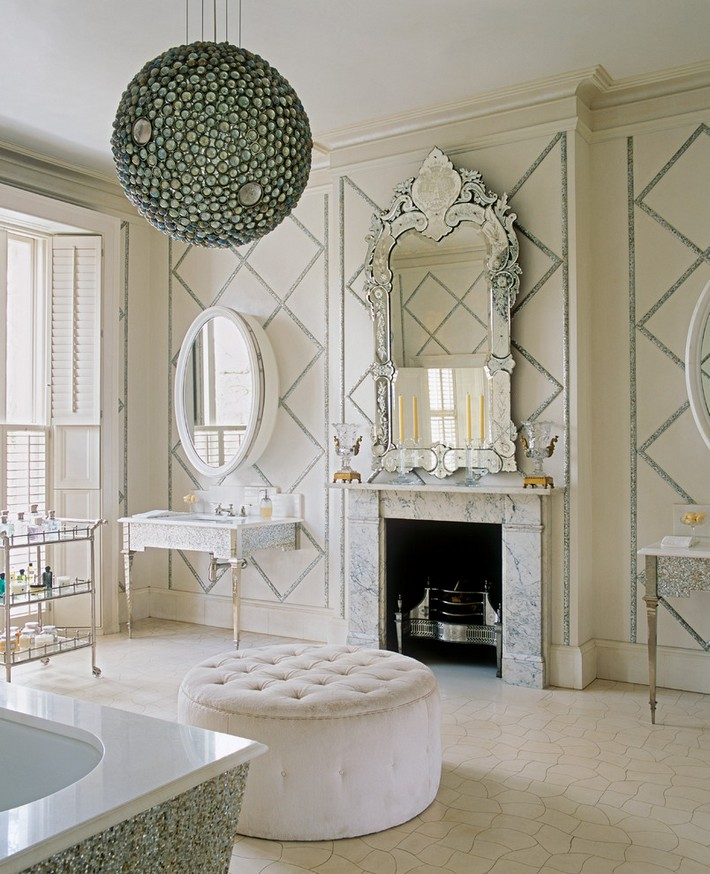 Gorgeous Victorian Bathroom Design Ideas Gorgeous Victorian Bathroom Design Ideas round tufted ottoman Bathroom Victorian