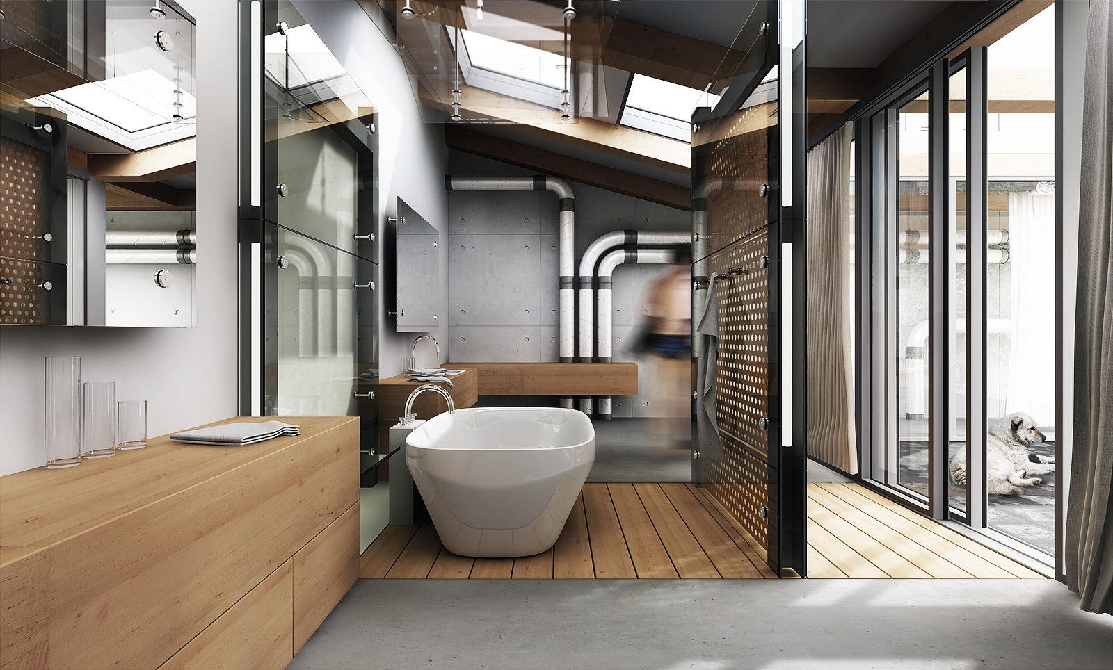 Bathroom Ideas: Industrial Design 94a7dc146ff2f83a466d0d77330909b0