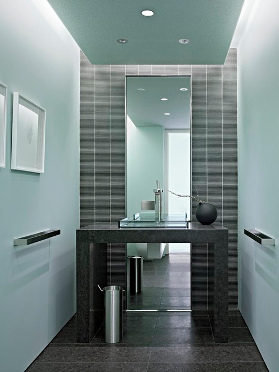 Chic & Stylish Powder Rooms Ideas for Your Bathroom modern powder room
