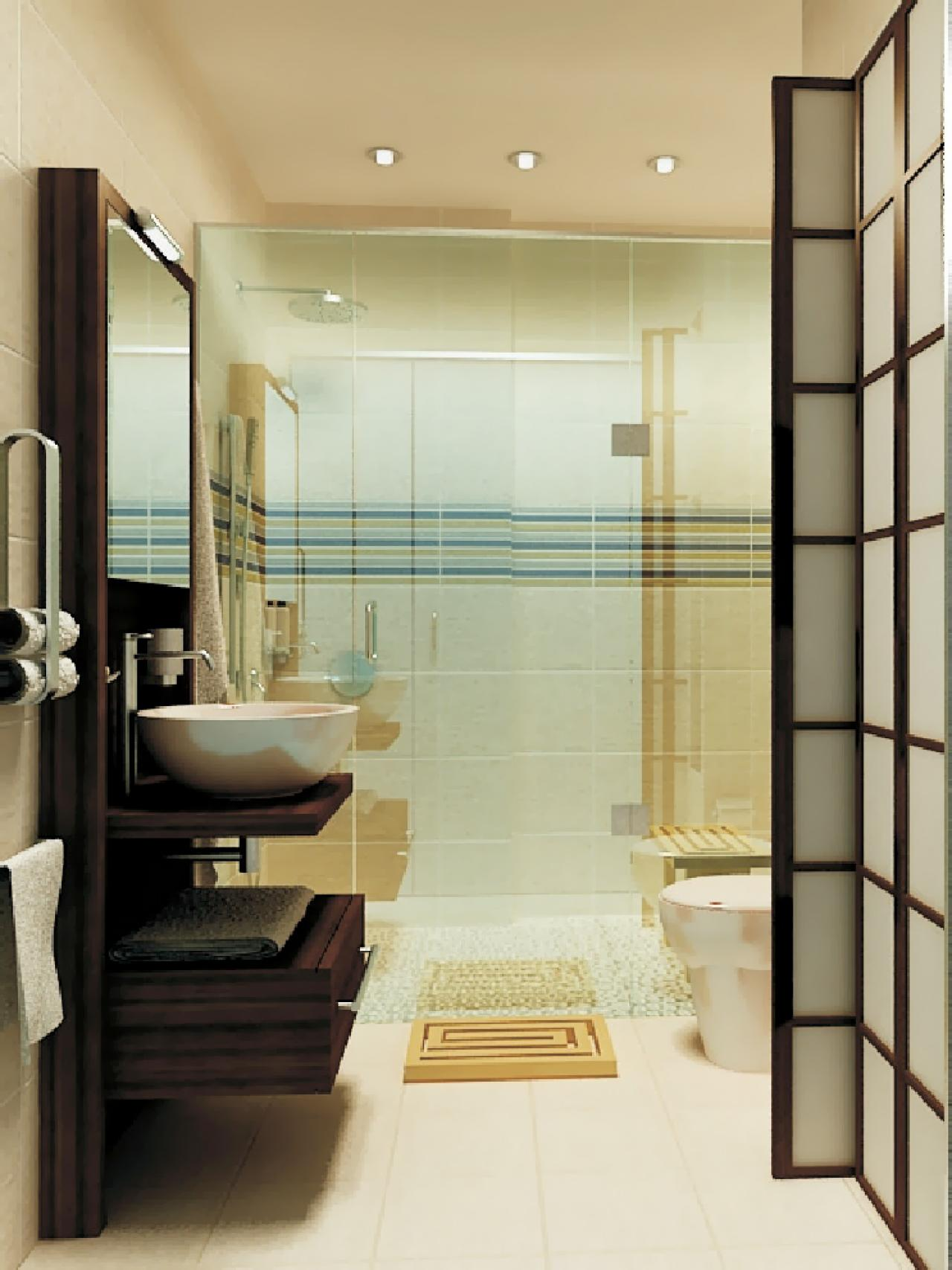Small Luxury Bathrooms on Small Space Small Bathroom Tiles Design  id=47979