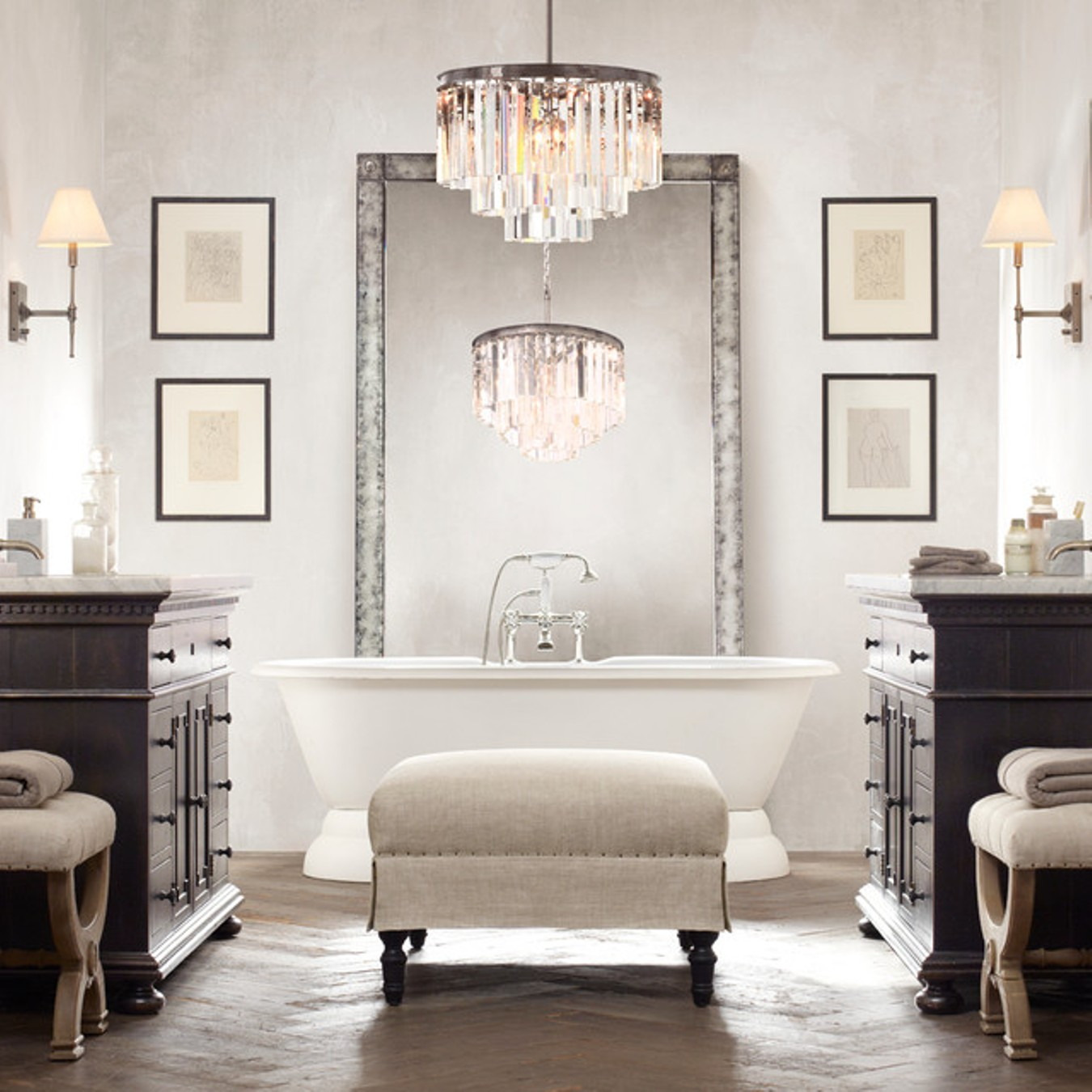 Stunning Pendant Lights for Your Glamorous Bathroom stunning bathroom chandelier lighting bathroom chandelier images vuquiz
