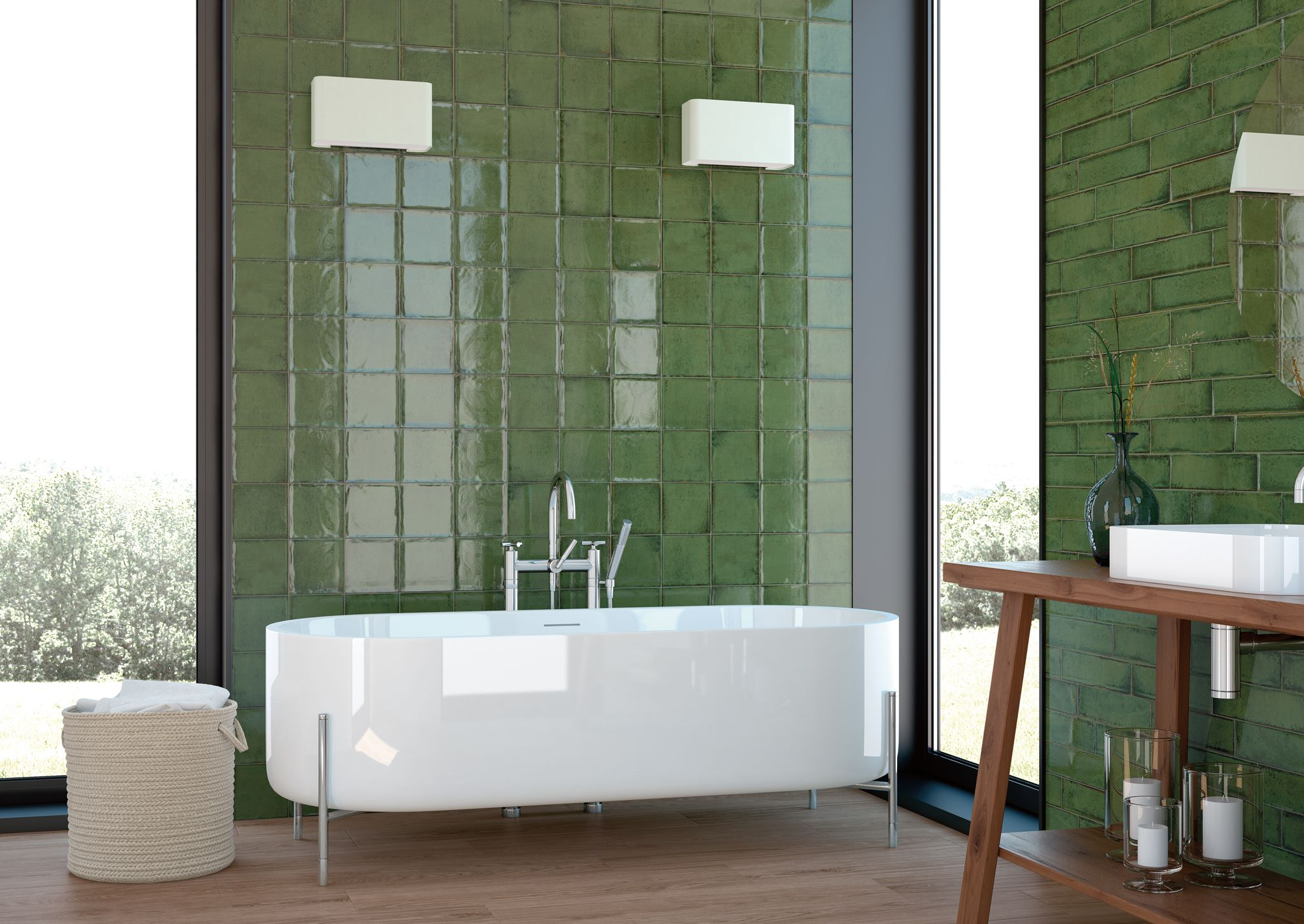 Olive Green Bathroom Ideas