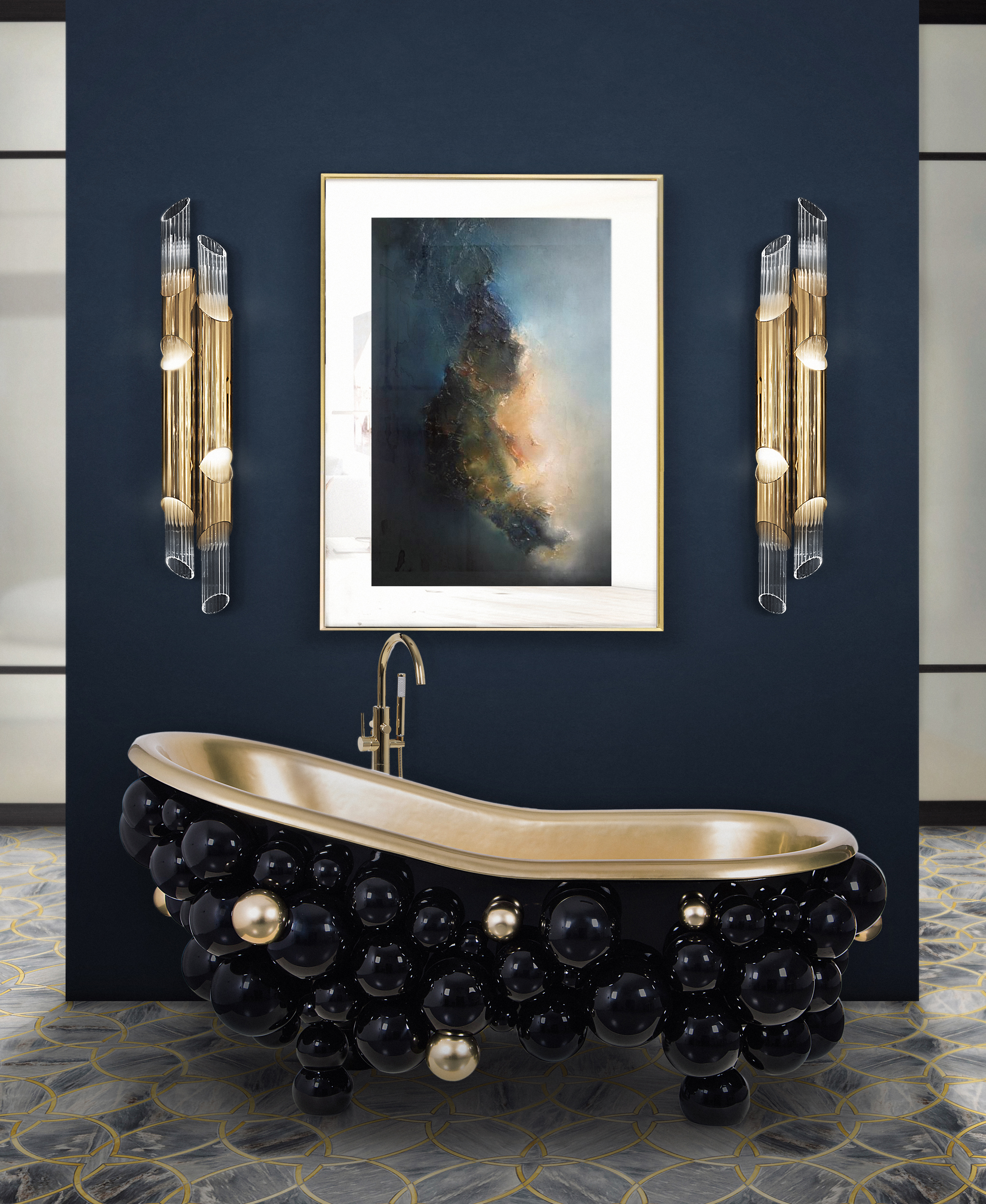 Bathroom Color Trends Preview 2019 26 newton bathtub ring mirror 2 HR
